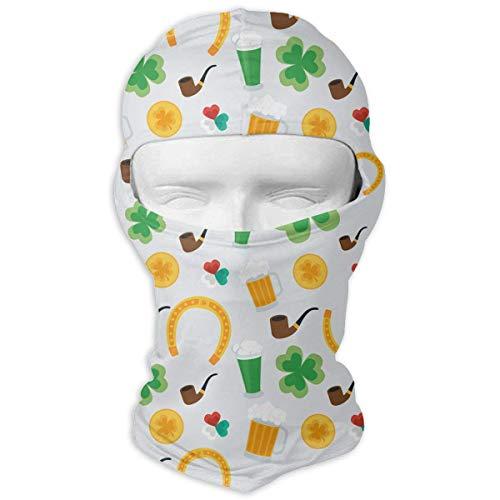 Xukmefat St-Patricks Day Ski Mask Fahrradmaske Schlauchschal Headwear 3D-Zaubermaske