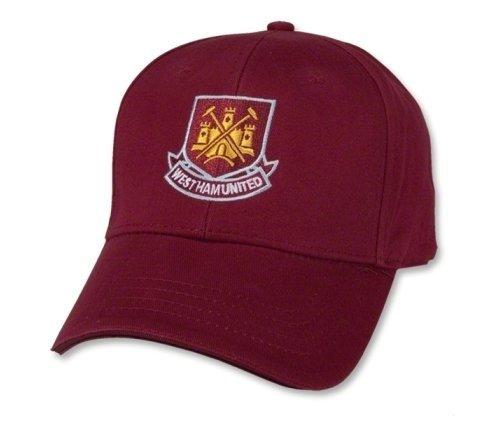 West Ham United FC Baseball Cap Fußball bordeaux Mütze Kappe premier cappello -