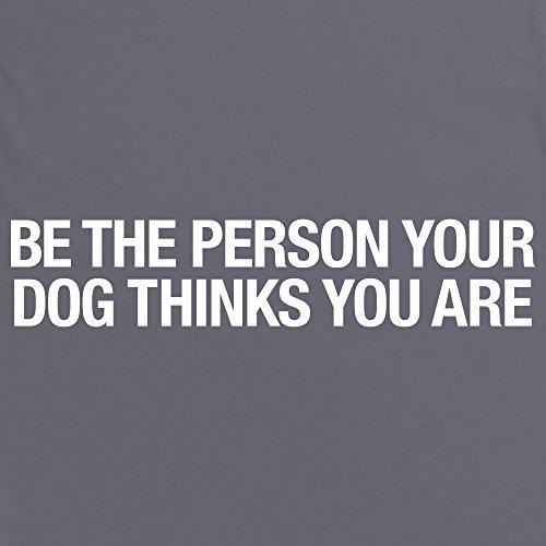 Your Dog Knows You Slogan T-Shirt, Herren Anthrazit