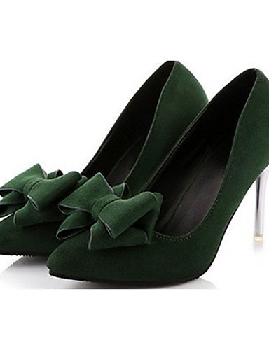GS~LY Da donna-Tacchi-Casual-Tacchi-A stiletto-Felpato-Nero / Verde / Borgogna black-us5 / eu35 / uk3 / cn34
