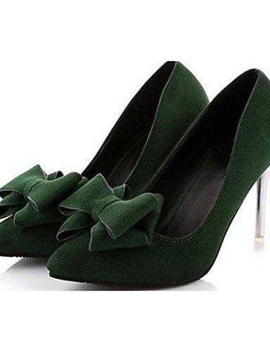 GS~LY Da donna-Tacchi-Casual-Tacchi-A stiletto-Felpato-Nero / Verde / Borgogna green-us7.5 / eu38 / uk5.5 / cn38