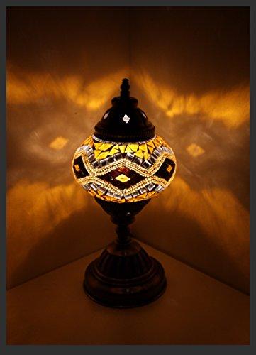 Gold-mosaik-tisch-lampe (Mosaiklampe Mosaik - Tischlampe M Stehlampe orientalische lampe Gold Samarkand-Lights)