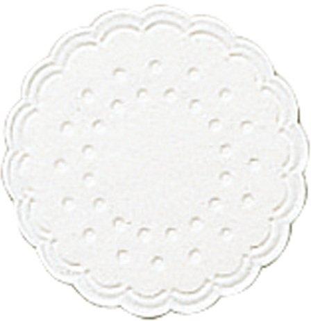 Tassenuntersetzer  - Ø 7,5 cm, weiß, 25 Stück