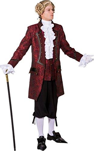 Orlob Herren Kostüm Barock GRAF Jacke weinrot Karneval Fasching Gr.54/56