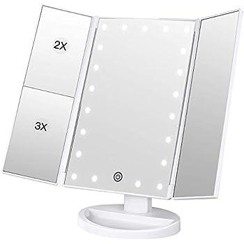 Schönheit & Gesundheit 2019 Neuer Stil Make-up Spiegel Led Mit Licht Touch Sensor Usb Lade 3 Mal Vergrößerung Falten Mini Reise Tragbare Beleuchtung Spiegel Schminkspiegel