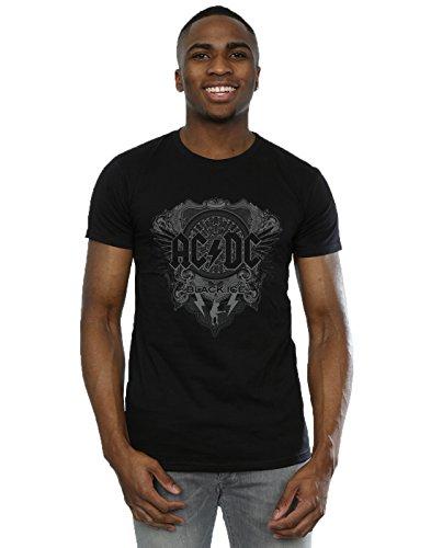AC/DC hombre Black Ice Camiseta X-Large Negro