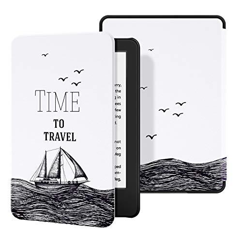 Ayotu Custodia in Pelle per Kindle 2019 - Case Cover con Sonno/Sveglia la Funzione Compatibile con Amazon Nuovo Kindle (10ª Generazione - Modello 2019),The Time to Travel