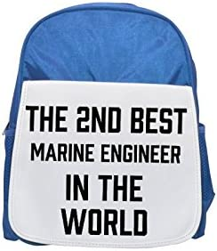 THE THE THE 2ND BEST Marine Engineer IN THE WORLD printed kid's Bleu  backpack, Cute backpacks, cute small backpacks, cute Noir  backpack, cool Noir  backpack, fashion backpacks, large fashion backpacks, Noir  | Service Supremacy  bba77a