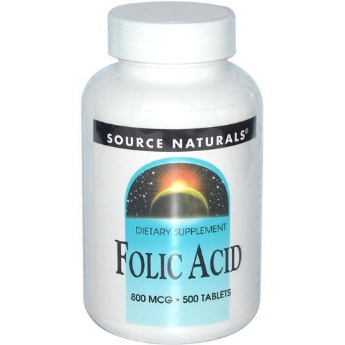Source Naturals - Folic Acid 800 mcg - 500 Comprimés