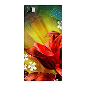 Beauty Flowers Print Back Case Cover for Xiaomi Mi3