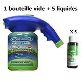 Pulvérisateur à gâchette 1 Bouteille Vide + 5 liquides : Flacon...