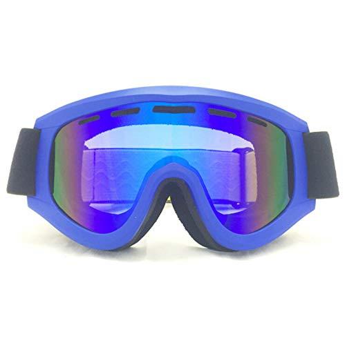 Aienid Fahrradbrille Beschlagfrei Blau Skibrille Winddichter Augenschutz Size:19X10CM