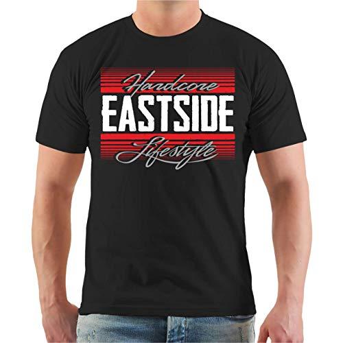 Männer und Herren T-Shirt Eastside Der Osten feiert Anders Größe S - 8XL