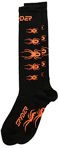Spyder Bug Out jungen Socken, (3Stück), Jungen, Black/Bryte Orange (Boys Spyder Bugs)