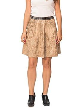 Susana Escribano I15116-F002, Falda de Oficina para Mujer, Beige (Camel), 38 (75 cm de Cintura) TALLA ESPAÑOLA