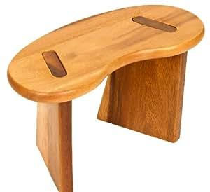 Banc de méditation portable Yogilino - bois d'acacia, 30 x 14 cm - 18/19 cm - Pieds amovibles, idéal pour les déplacements. Taille réduite et compacte
