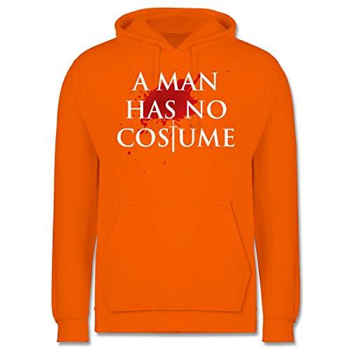 Karneval & Fasching - A Man Has No Costume Kostüm - S - Orange - JH001 - Herren Hoodie