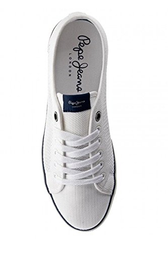 Pepe Jeans Herren Aberman Knit Low-Top Weiß
