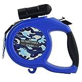 Einziehbare Haustierzugseil-Hundeleine Mittlere Bis Große Hundeleine Mit Taschenlampe (Farbe : Blau, größe : 8m)