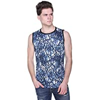 ZAKOD Men's Dry Fit Streching T-Shirts for Casual Purpose (Blue, X-Large)