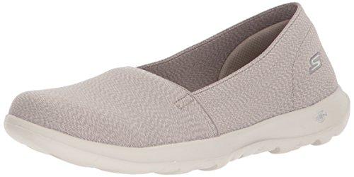 Skechers Damen Go Walk Lite - Smitten Slip On Sneaker, Beige (Taupe), 38 EU (Skechers Go Walk Schuhe Für Frauen)