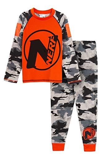 Pijama Oficial de Nerf para niños de Longitud Completa con diseño de Camuflaje Negro Nerf 7-8 Años
