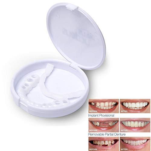 YCGJ Bequemes Aufschnappen Männer Frauen Zahn Perfektes Lächeln Komfort Fit Flex Zähne Passt Bleaching Smile False Teeth Cover