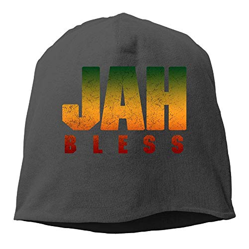 DHNKW Jah Bless Rasta Flag Reggae Roots Winter Beanie Skull Cap Warm Knit Ski Slouchy Hat Durable -