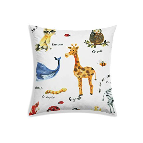 Radanya animale stampa digitale raso tessuto decorativo per divano pillow case 30,5 x 30,5 cm art deco 20x20 inch infradito colorati estivi, con finte perline