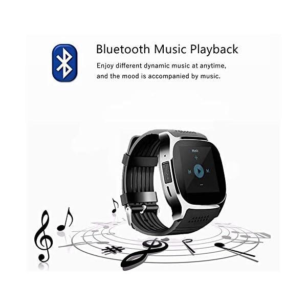 CanMixs Smartwatch CF02 es compatible con la tarjeta SIM Reloj de pulsera TF con cámara Podómetro Sleep Monitor Message Sync notifica el reproductor de música sedentaria para el teléfono Android IOS 6