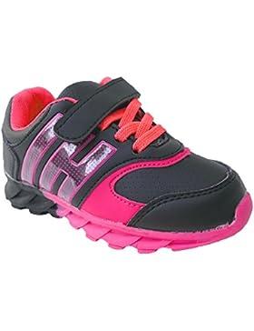 GIBRA® Kinder Sportschuhe, mit Klettverschluss, schwarz/pink, Gr. 25-36