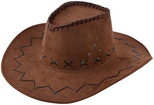Miobo Cowboyhut Westernhut Cowgirl australien Texas Cowboy Damenhut Herrenhut Hut Hüte Western Dunkelbraun (Tin Mann Kostüm Hut)