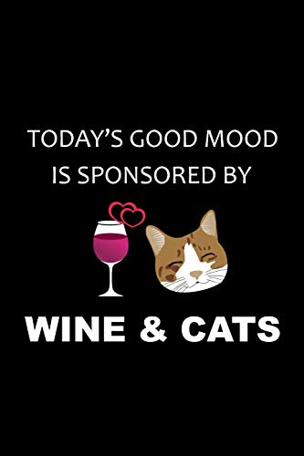 db9bf4c7c221a Sponsored By Wine   Cats  Funny Cat Notebook Novelty Gift for Wine   Cat  Lovers