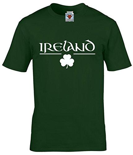 Reality Glitch Herren Ireland T Shirt Irish Clover Design (Irisches Grün, XXX-Large)