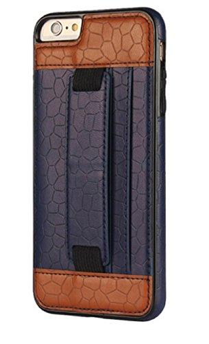 Housse étui coque Apple iPhone Prise en main, Cuir synthétique Cuir, noir, IPHONE 6 PLUS/6S PLUS bleu
