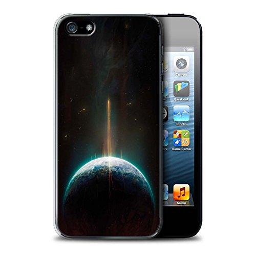 Offiziell Chris Cold Hülle / Case für Apple iPhone SE / Entfernten Stern Muster / Galaktische Welt Kollektion Phönix/Raumzeit