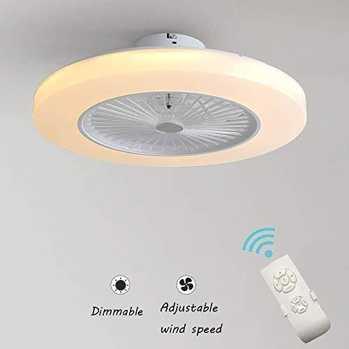 JUN Ventiladores de techo con iluminación 36W Ventilador invisible creativo Luz de...