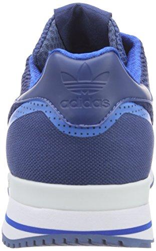 adidas Zx 500 Techfit, Low-Top Sneaker homme bleu (Ash Blue S15-St/Bluebird/Ftwr White)