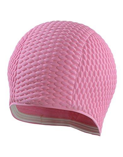 mesdames-bonnet-de-bain-a-bulles-rose-classique-gaufre-style