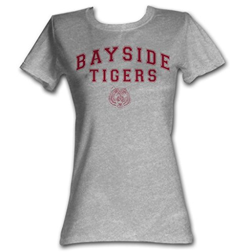 Saved By The Bell - Bayside Tiger-T-Shirt in Grau Heather, Small, Gray Heather -