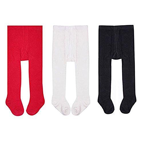 Liddon 3pc/lot calzamaglia dei calzamaglia dei capretti dei calzamaglia del cotone delle ragazze delle neonate (multicolore2, 9-18m)
