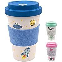 heyholi Coffee-to-go mug   Taza de bambú, Incluye Tapa de Rosca