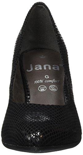 Jana 22401, Escarpins Femme Noir (Black Pat. Str 093)