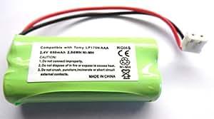 Batteria ricaricabile di ricambio per baby monitor digitale Tomy TD300LP175N, 2,4V 850mAh NiMH