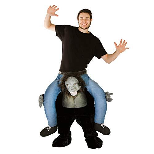Gorilla Kostüm Reiten Ein - Bodysocks®  Premium Gorilla Huckepack (Carry Me) Kostüm für Erwachsene