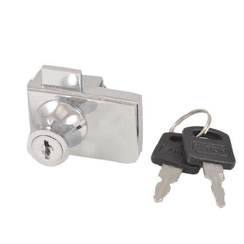 5,1cm Lange Einzel Glastür Key Locking Schloss-Silber Ton