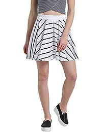 TEXCO Women Striped Short Flared Skirt