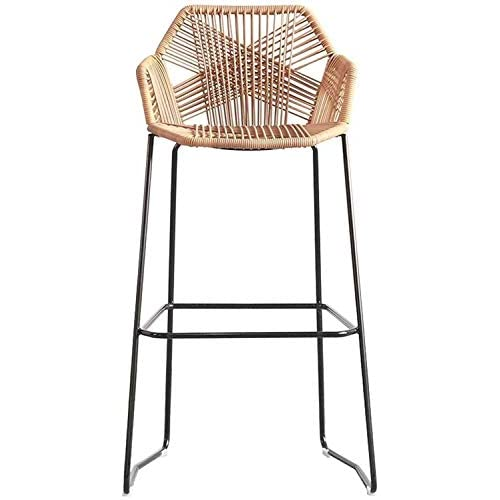 YLSP The Home Bar Stool Chair Refined Cane Chairs | Rattan Wicker | Outdoor Patio Furniture, Backyard, Porch, Garden…