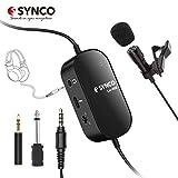 SYNCO Lav S6M Microfono-Lavalier-Microfono-a-Clip Condensatore Omnidirezionale 6M con Monitoraggio Audio, Compatibile per Fotocamere, Cellulari, Videocamere, Registratori Audio, Mixer, Computer