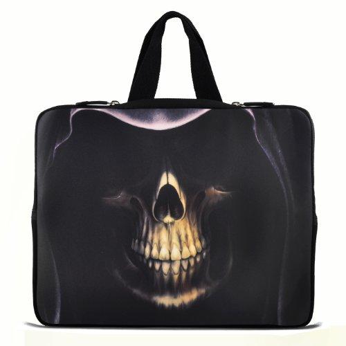 Cool Skeleton Head 33cm 33,8cm pollici custodia notebook laptop borsa da trasporto con Nascondi maniglia per Apple MacBook Pro 13Air 13/Samsung 900x 3530535U3/Dell XPS 13vostro 3360Inspiron 13/Asus UX32UX31U36X35/Sony SD4/ThinkPad X1L330E330